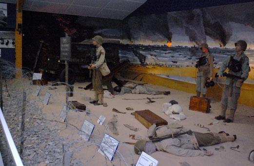Ranger Museum St. Mere Eglise: Szene der Landung in der Normandie.