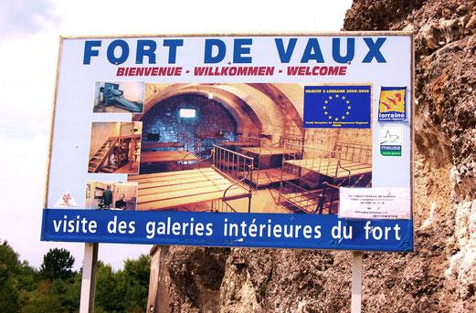 Fort de Vaux ist sehr gut erhalten und kann besichtigt werden.