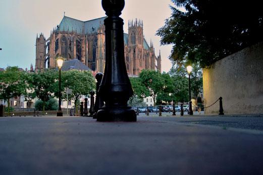 Die Kathedrale von Metz aus einer anderen Perspektive.