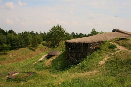 Die Bunker sind noch gut erhalten.
