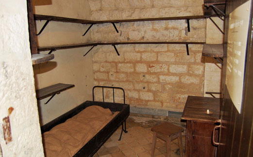 Unterkunft eines Offiziers in Fort de Vaux.