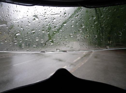 Ab Österreich nur noch Regen