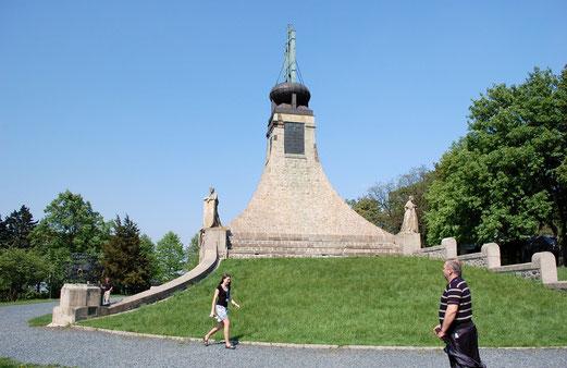 Auf dem Schlachtfeld von 1805 in Austerlitz