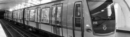 Consulter un plan du réseau du métro parisien.