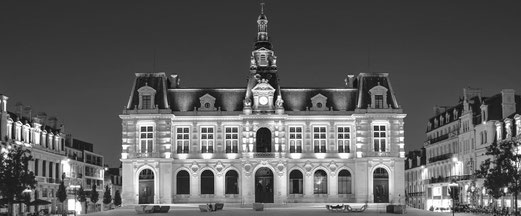 L'hôtel de ville de Poitiers est un édifice de style Second Empire mais d'inspiration Renaissance.
