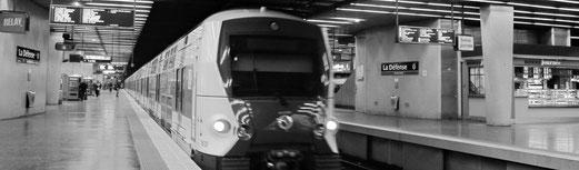 Consulter un plan du Réseau Express Régional  (RER) d'Île-de-France.