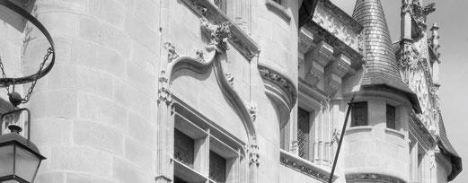 L'Hôtel, édifice de style gothique flamboyant construit au début du xvie siècle, abrite aujourd'hui quelques salles de la Faculté de Sciences Humaines de l'Université de Poitiers.