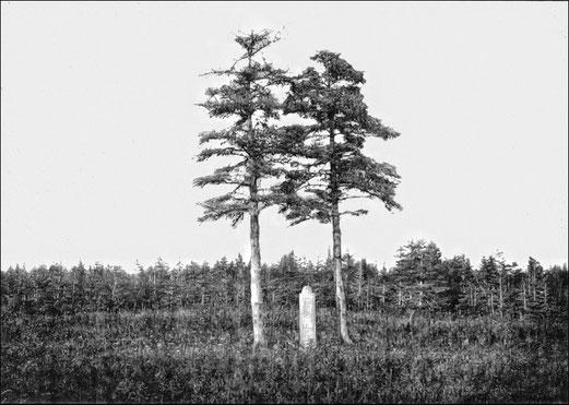 La tombe de Olivier Louis Gamache à Baie Ellis