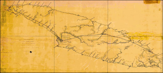 Carte originale de Joseph Bureau en 1895