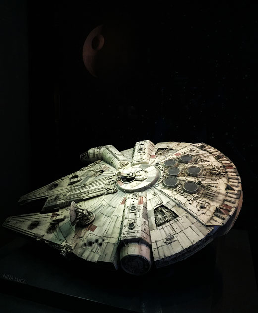 image: nina luca, star wars, star wars identities, star wars münchen, star wars exhibition, jedi, lightsaber, millenium falcon, starship, han solo, chewbacca