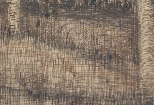 Détail d'un dessin réalisé en 1884, Crayon et encre sur le papier, 39.5 cm x 54.2 cm;,Musée Van Gogh, Amsterdam.