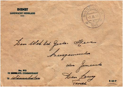 Voorbeeld K-nummer rechtsonder aan de brief. Bron: V.O.N.G.
