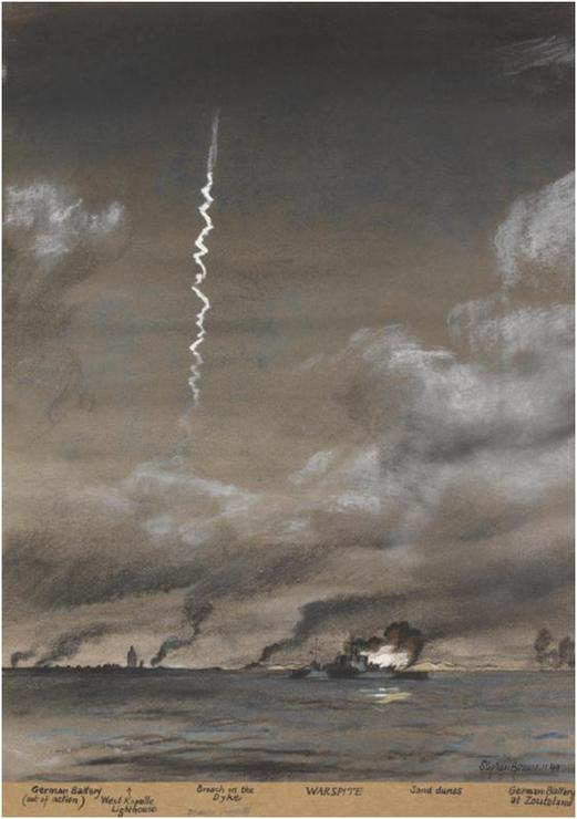 Een V2 lancering, Imperial war museums
