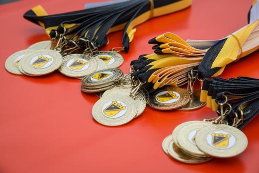 Medaillen für alle Bambini-Teams. - (Foto: r.f.).