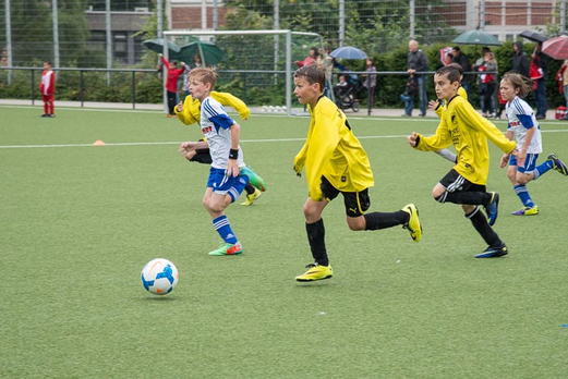 TuS E3-Jugend im Spiel gegen DJK Blau-Weiß Mintard E2 (1:2). - (Foto: r.f.).