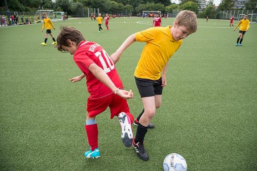 TuS E1-Jugend im Spiel gegen TuSEM E1 (1:1). - (Foto: r.f.).