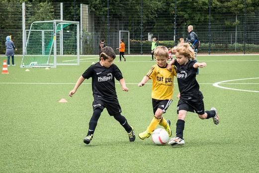 TuS Bambini 1 im Spiel gegen Rhenania Bottrop (0:3). - (Foto: r.f.).