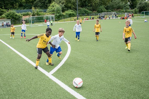 TuS Bambini 1 im Spiel gegen SV Burgaltendorf (0:1). - (Foto: r.f.).