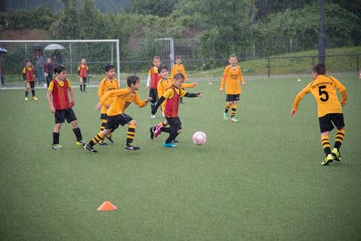 "TuS F2-Jugend ""A"" im Spiel gegen ESC Rellinghausen 06 F2 (2:0). - (Foto: r.f.)."