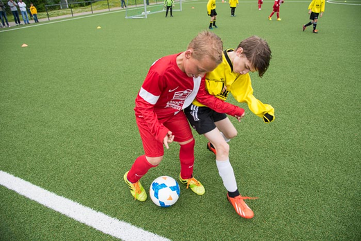 TuS E3-Jugend im Spiel gegen TuSEM E2 (0:3). - (Foto: r.f.).