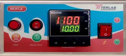 TE-M40D Mufla para temperaturas de 1,200 °C, 36 Litros. Terlab