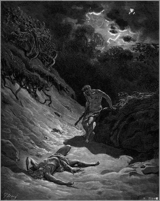 """G. Doré, """"La morte di Abele"""""""