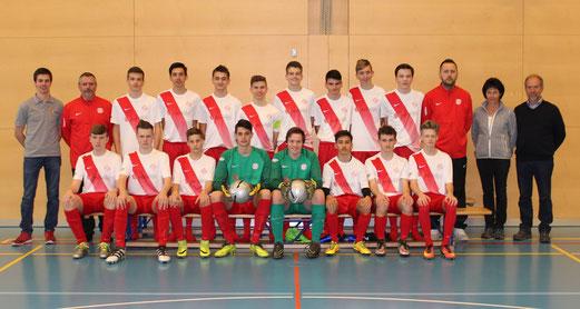 Mannschaftsfoto B-Junioren FC Wallbach.