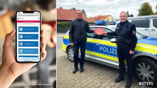 Zufällig zu Besuch: Mdb Dr. Roy Kühne informiert sich bei Ralf Bertram über die Polizeiaufgaben im ländlichen Raum.