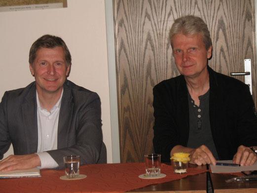 Bürgermeister Dr. Christian Pundt und Hartmut Lueken;  Foto: Karin Stolle