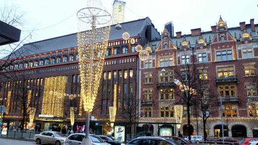 Die Innenstadt von Helsinki mit dem Einkaufszentrum Stockmann