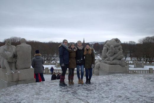 Maria Korten, Lioba Dietz, Charlotte Uhrig und Tabea Gerd-Witte in Oslo