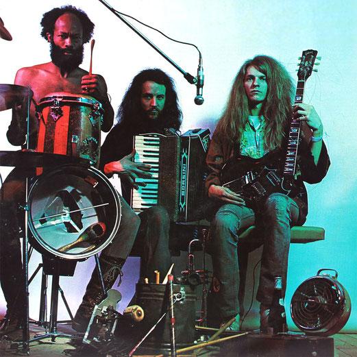 Fred Braceful, Thommy Balluff und Andy Goldner (von links) gründeten die experimentelle Jazzrock-Band Exmagma. Mitte der 70er-Jahre siedelte das Stuttgarter Trio nach Frankreich um. Foto: Sammlung Andy Goldner