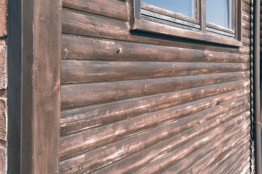 Sanded wood facade, home improvements, DIY