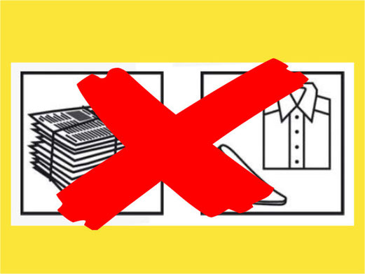 Keine Kleidersammlung im April, keine Papiersammlung im Mai. Bild: bunts.ch