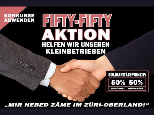 Fifty-Fifty: 50% Spendenanteil, 50% Wertgutschein. Bild: Initiant