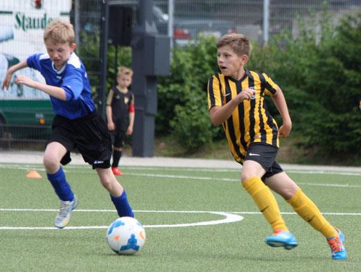 TuS E1 im Spiel gegen SG Kupferdreh-Byfang. - Foto: p.d.