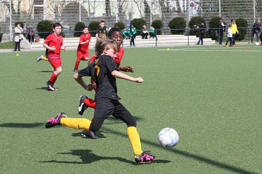 TuS E1-Jugend im Heimspiel gegen TuS Essen-West 81. - Fotos: mal
