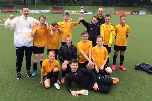 Die TuS D1-Jugend wurde Turniersieger an der Hubertusburg. - Foto: s.v.g.