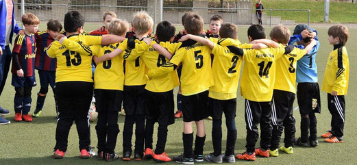 TuS Bambini 1 im Auswärtsspiel beim VfB Essen-Nord. - Fotos: dabu.