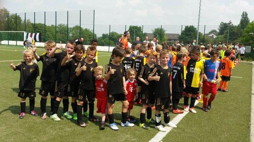 TuS F3-Jugend beim F2-Jugend Turnier des TuS Union 09 Mülheim. - Foto: s.b.