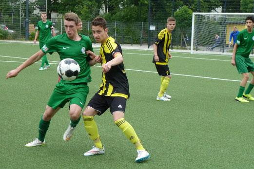 """""""Neue"""" TuS A-Jugend im Testspiel gegen SV Langendreer 04. - Fotos: mal."""