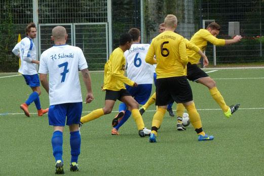 Vierte Mannschaft im Heimspiel gegen FC Saloniki-EFV 2. - Fotos: mal.