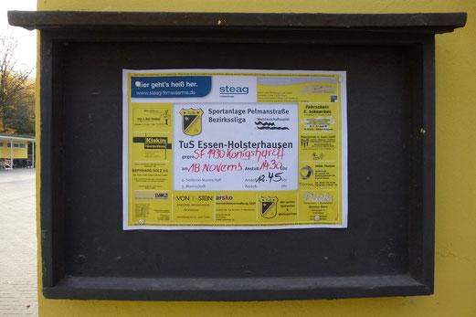 """Das gibt´s einzig beim TuS: Die Bezirkssliga nur echt mit dem Doppel """"s"""" (Foto: mal)."""