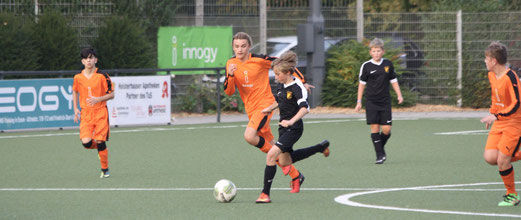 TuS C1-Jugend im Kreispokal-Achtelfinale gegen den FC Karnap. - Fotos: pad.