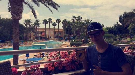 Erste Urlaubsgrüße aus Menorca. - Foto: tgr.
