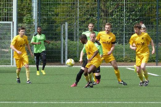 Erste Mannschaft im Heimspiel gegen den FC Stoppenberg. - Foto: mal.