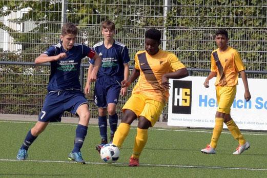 TuS B-Jugend im Spiel gegen Preußen-Eiberg. - Fotos: ings