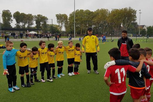 TuS F3-Jugend im Spiel bei der F2 von AL-ARZ Libanon. - Fotos: taki.