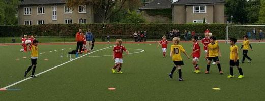 TuS F4 im Auswärtsspiel am Fibelweg, Foto: m.d., TuS C-Jugend bei der C2 der SG Altenessen (unten), Fotos: lua.