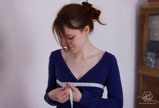 Richtig Maßnehmen für Damen Unterwäsche - BRA&BEE Dessous